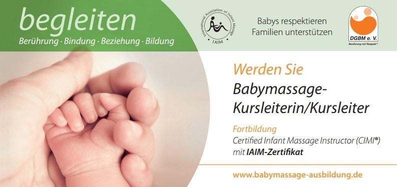 Babymassage Ausbildung Flyer